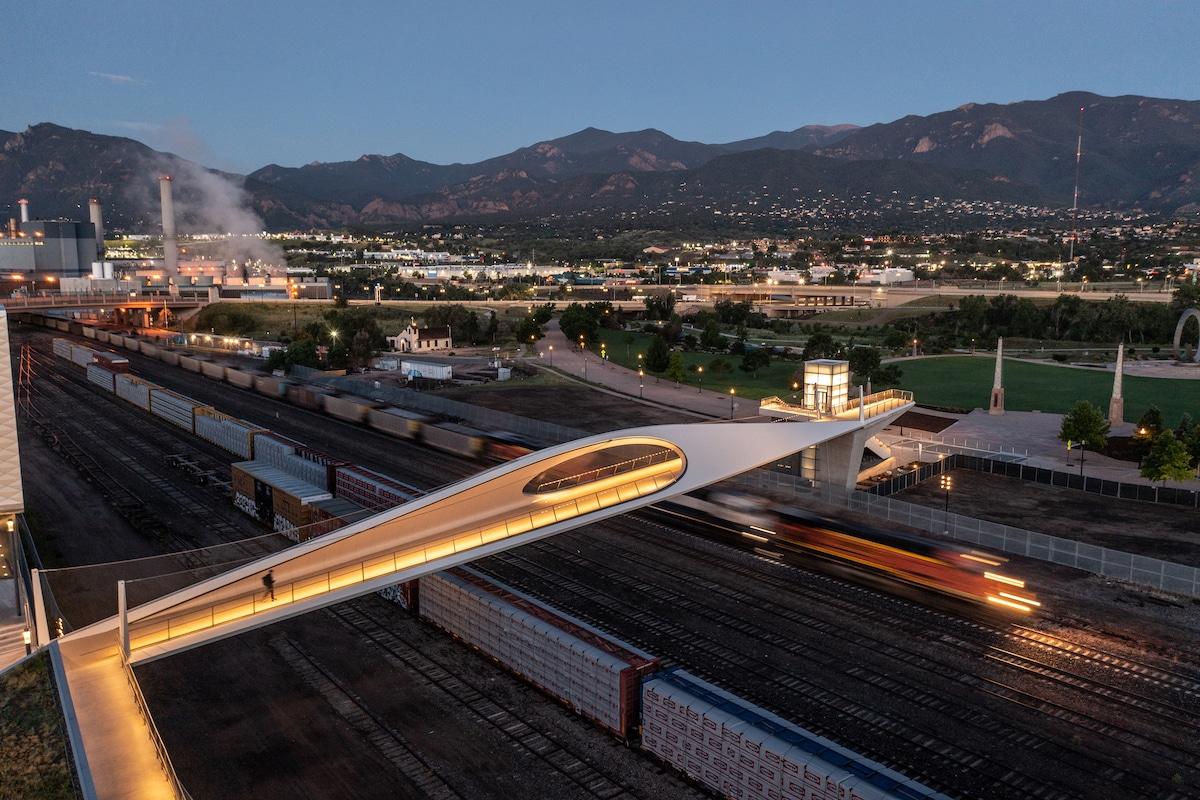 Aerial of Park Union Bridge by Diller Scofidio + Renfro