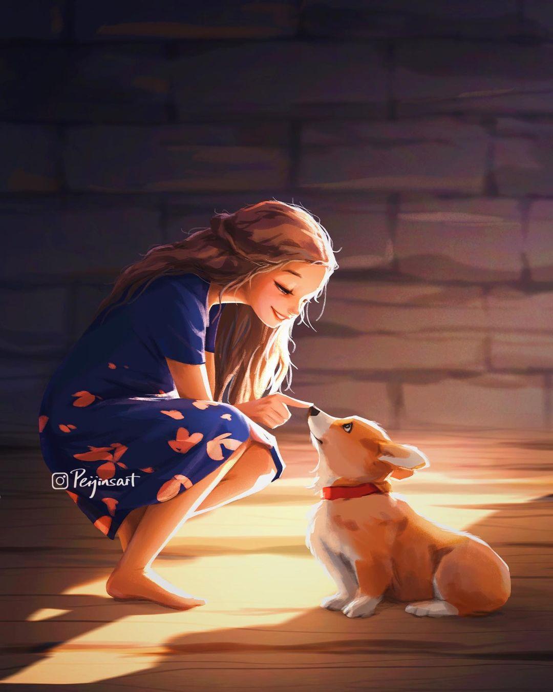 Animal and Character Illustrations by Peijin Yang