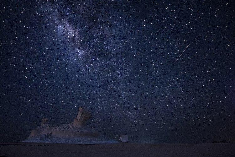 Ciel nocturne, pluie de météores des Perséides