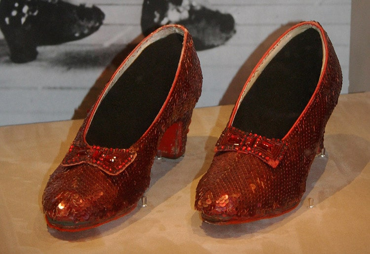 A Pair fo Ruby Slippers from Oz