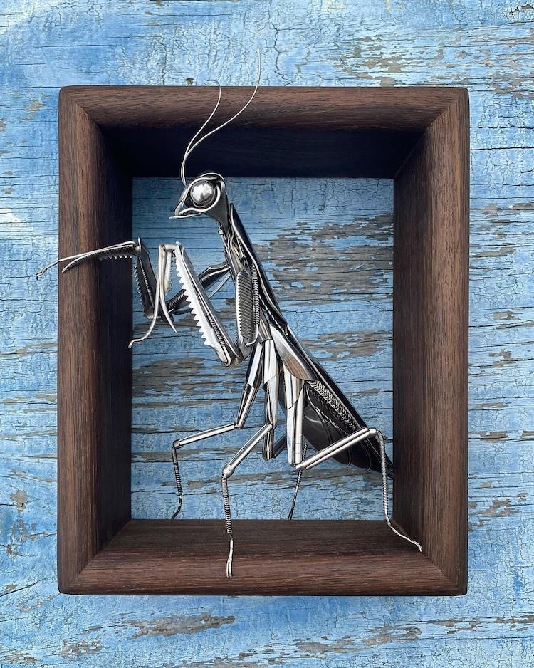 Sculpture en métal recyclé par Matt Wilson