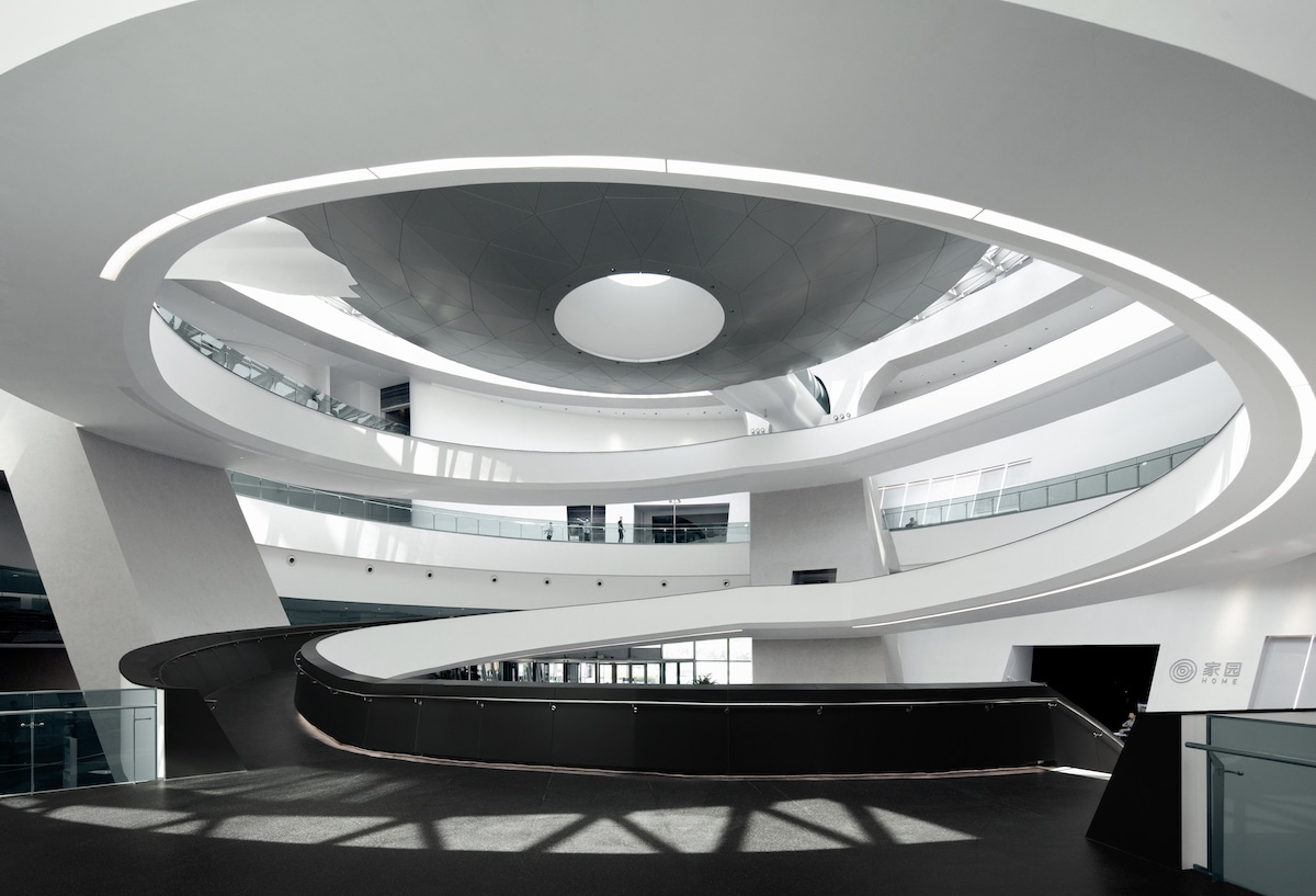 Interior Circulation of the Shanghai Astronomy Museum by Ennead Architects, Captured by Arch-Exist