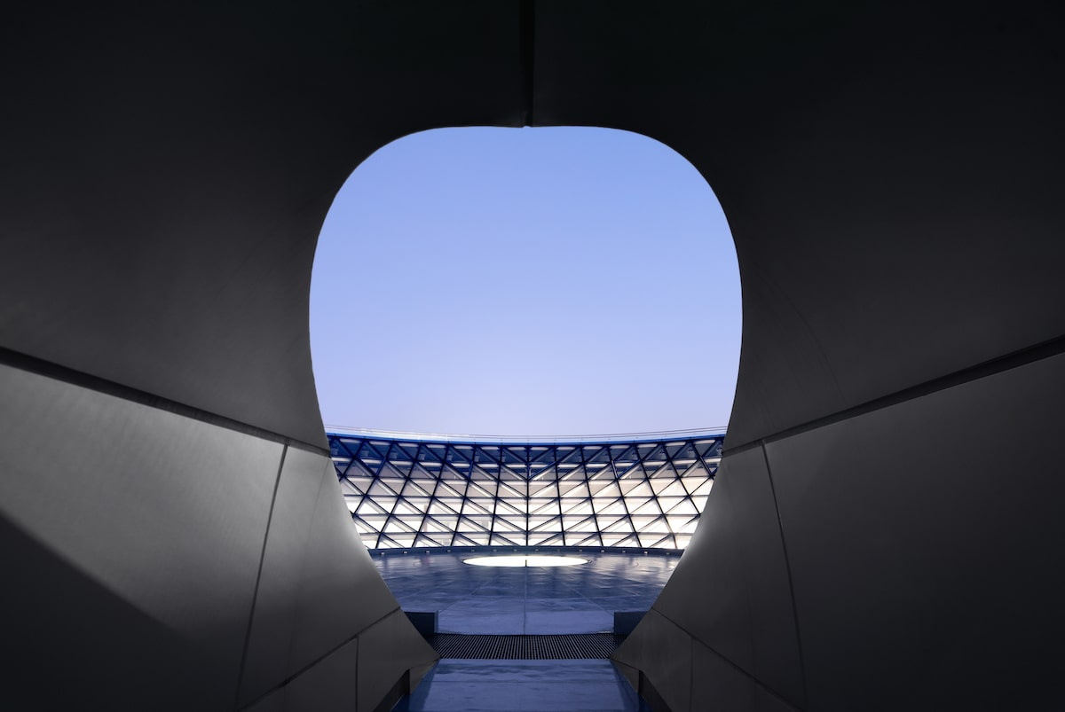 Aerial View of the Shanghai Astronomy Museum by Ennead Architects, Captured by Arch-Exist