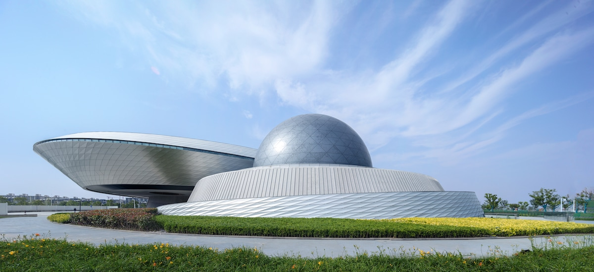 Overall Exterior View of the Shanghai Astronomy Museum by Ennead Architects, Captured by Arch-Exist