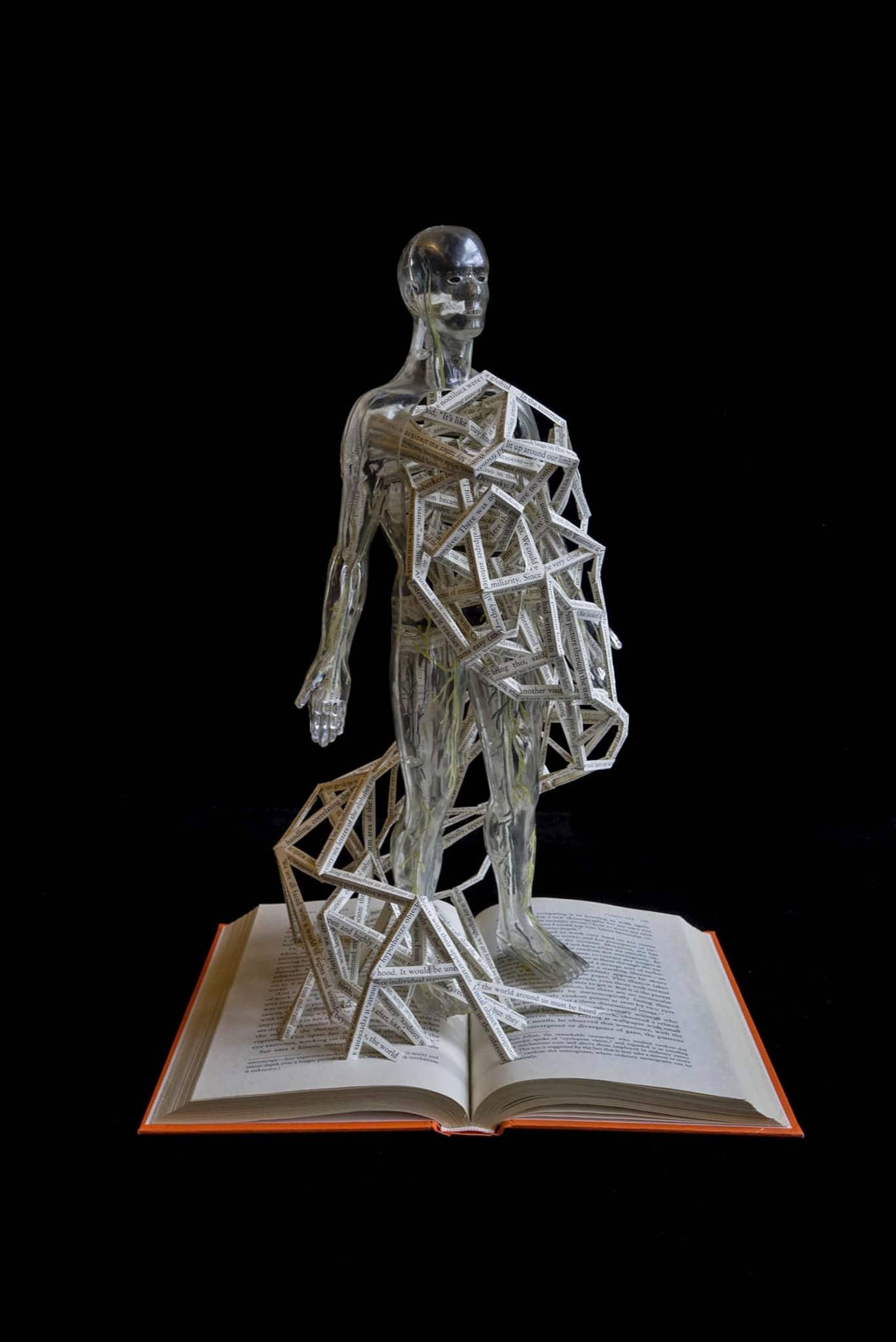 "Stephen Doyle ""Hypertexts"" Altered Book Sculptures"