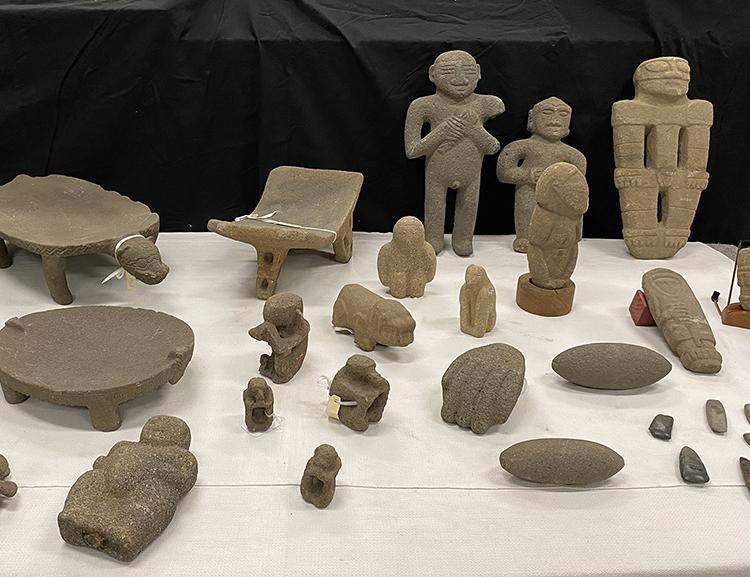 objetos históricos devueltos a costa rica de la keith Collection
