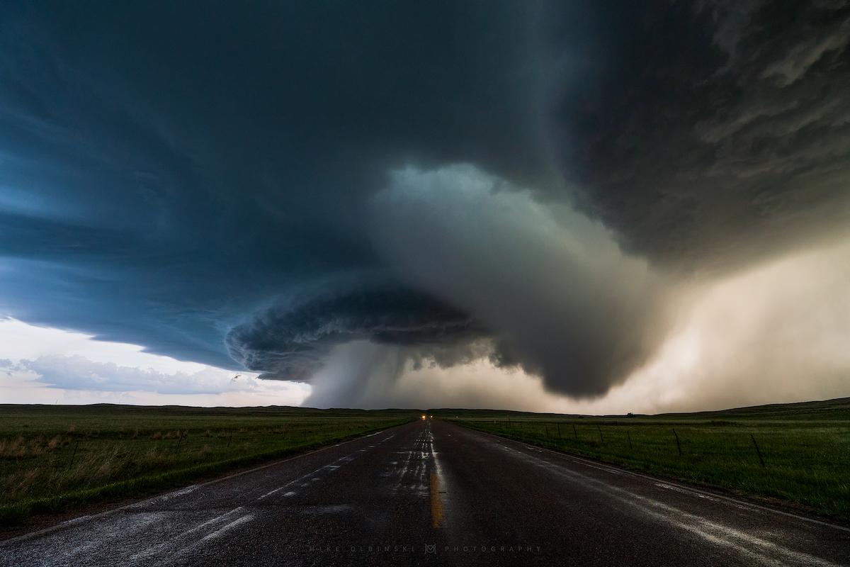Hail Microburst by Mike Oblinski