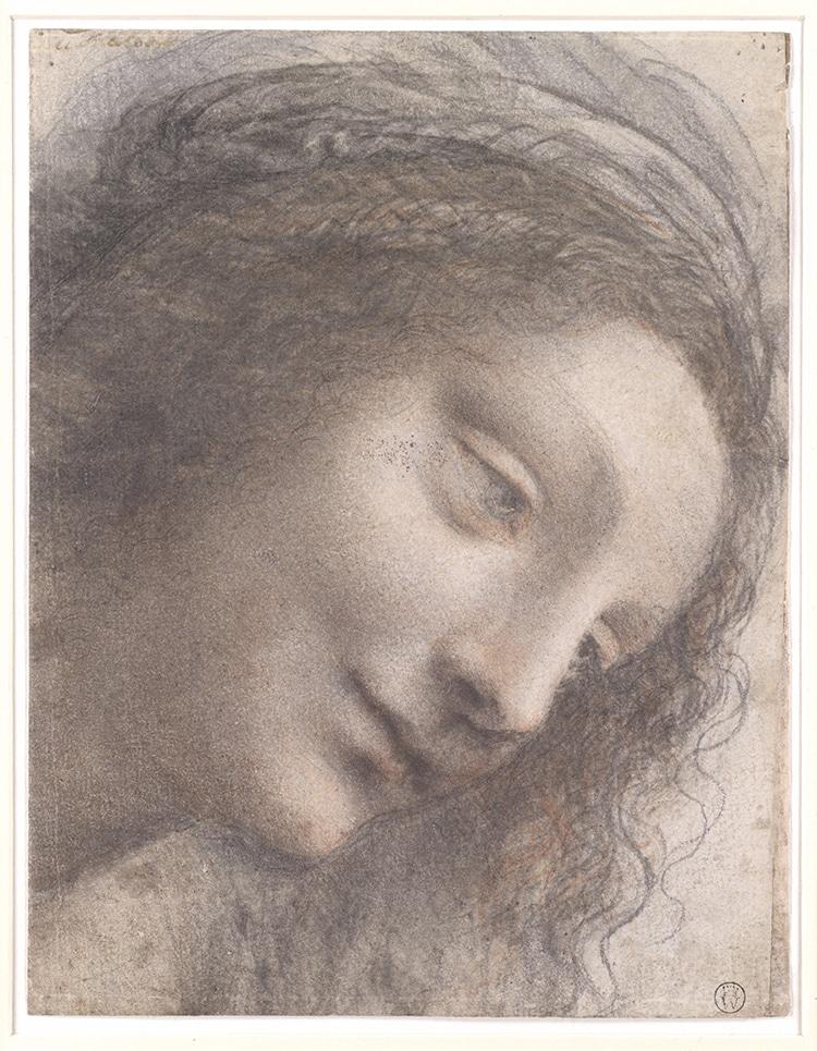 Virgin Mary Sketch by Da Vincic