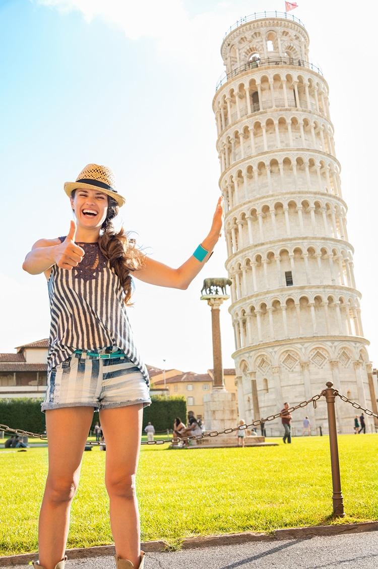 Leaning Tower of Pisa Posing