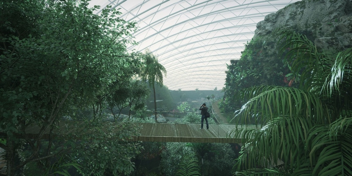 Rendering for Tropicalia Greenhouse