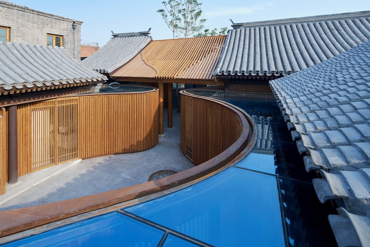 Aerial Shot of the Renovated Traditional Hutong completed by Urbanus