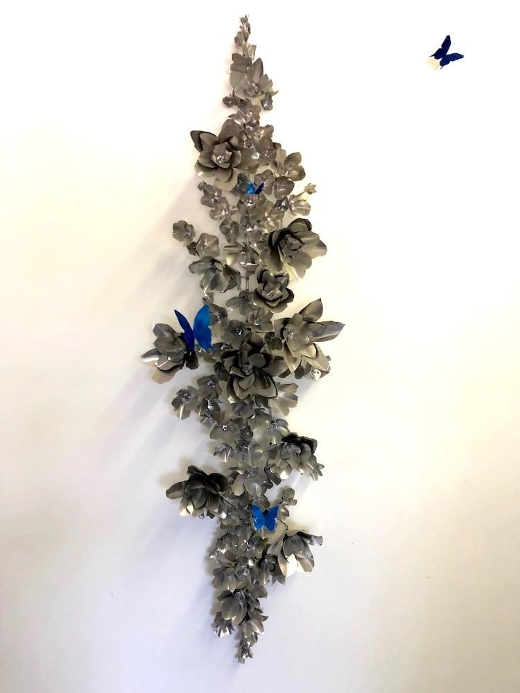 Metal Sculpture Flower Wall Art by Vincent Salvo