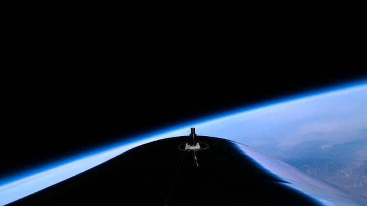 La Tierra visto desde la nave de Virgin Galactic