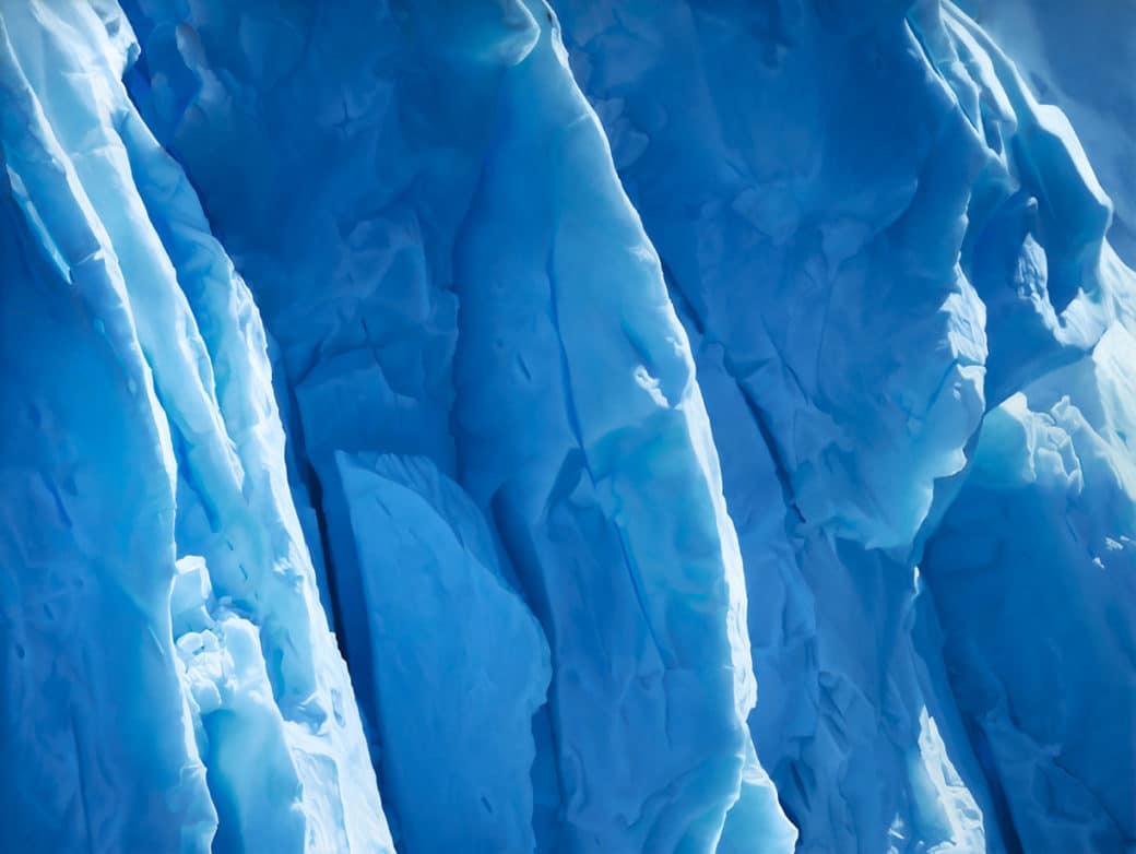 pinturas de paisajes de hielo por Zaria Forman