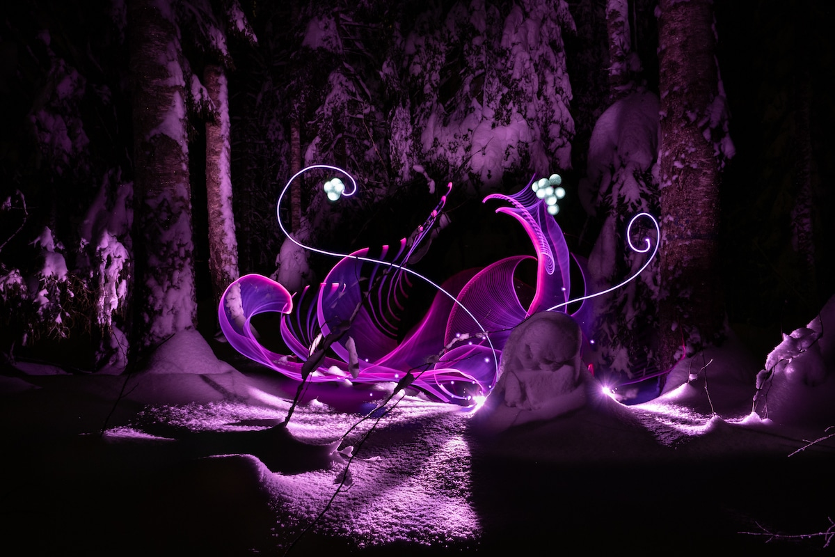 Artistic Light Painting by Hannu Huhtamo