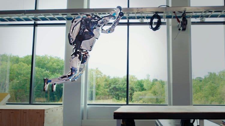 Atlas Robot Doing Parkour Moves