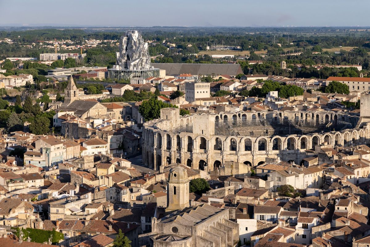 City Overview of Frank Gehry's Luma Arles Tower Captured by Photographer Iwan Baan