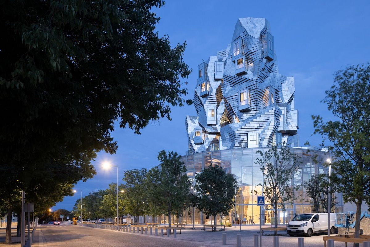 Exterior View of Frank Gehry's Luma Arles Tower Captured by Photographer Iwan Baan