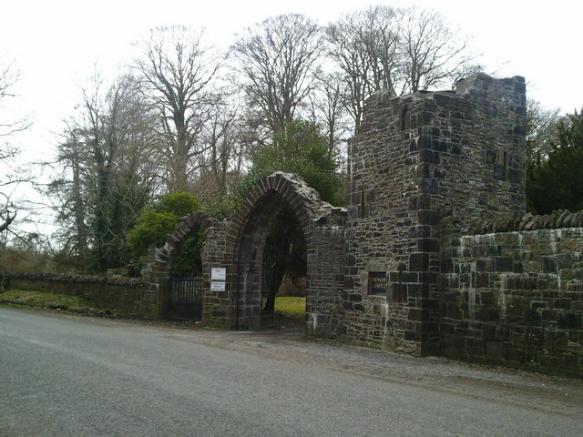 Gate of Dunsany Castle in County Meath Ireland