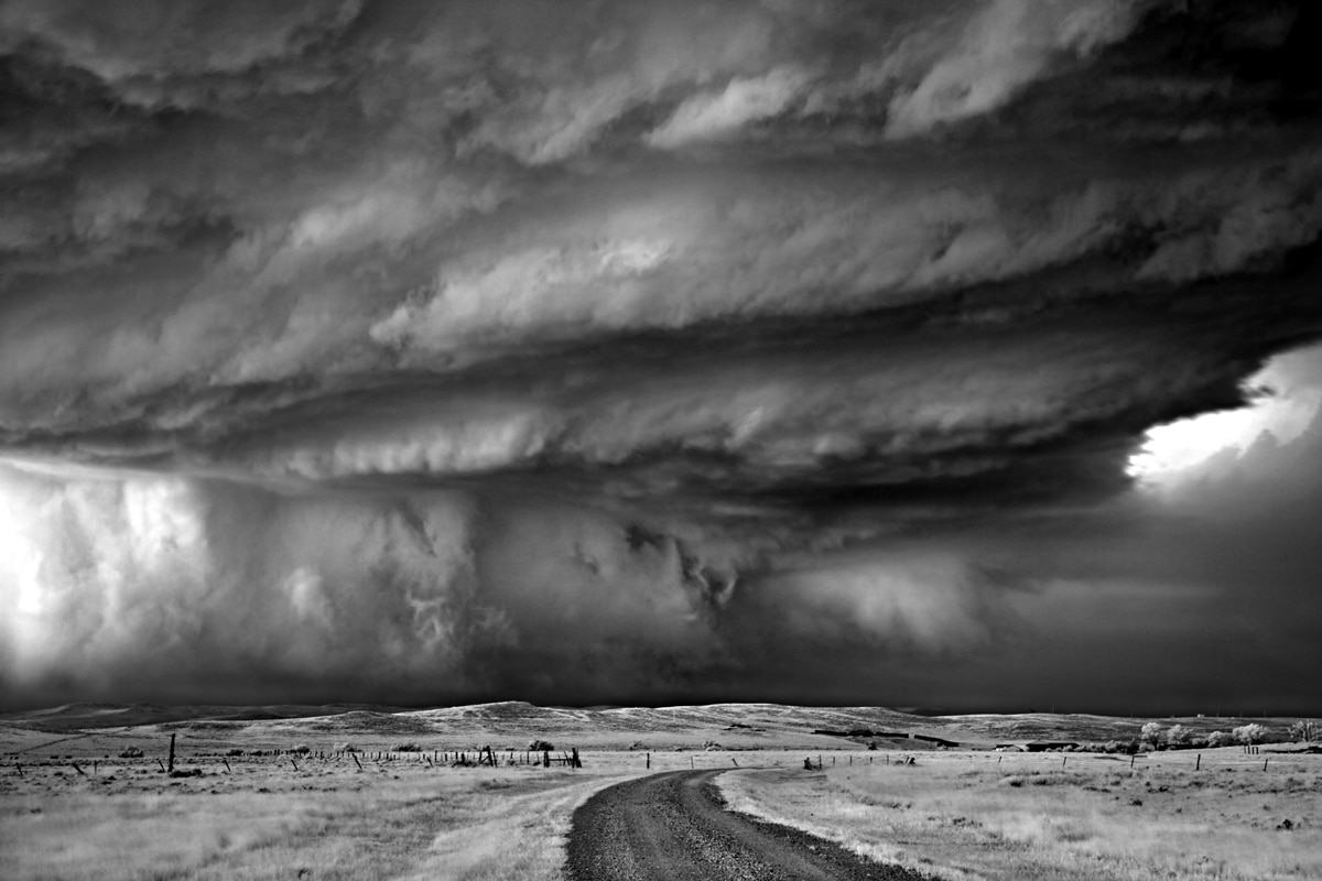 Black and White Storm Photography