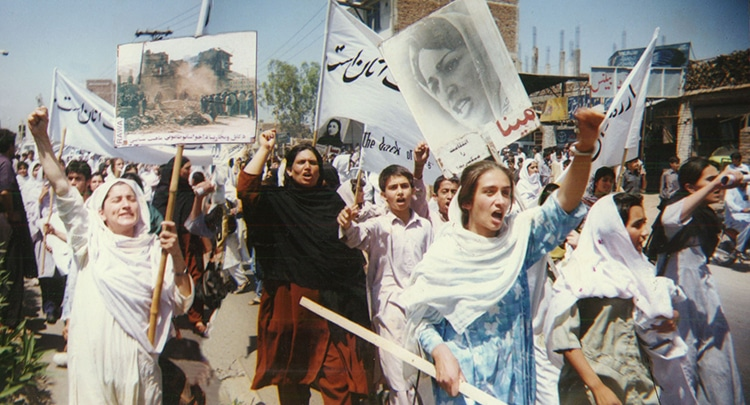 RAWA protest rally against the Taliban in Peshawar