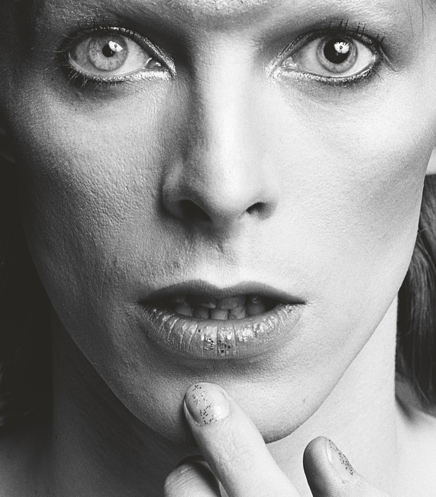 Close Up Portrait of David Bowie in the 1970s by Sukita