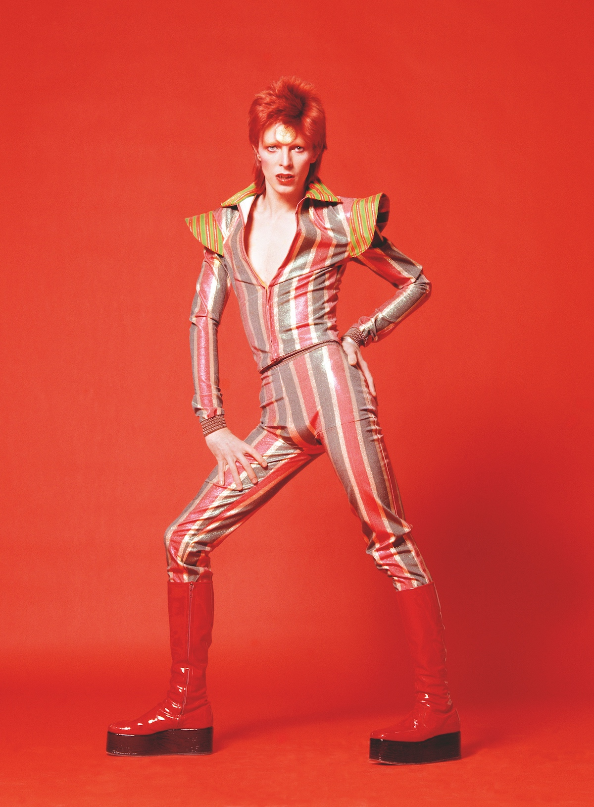 David Bowie in 1973 by Sukita