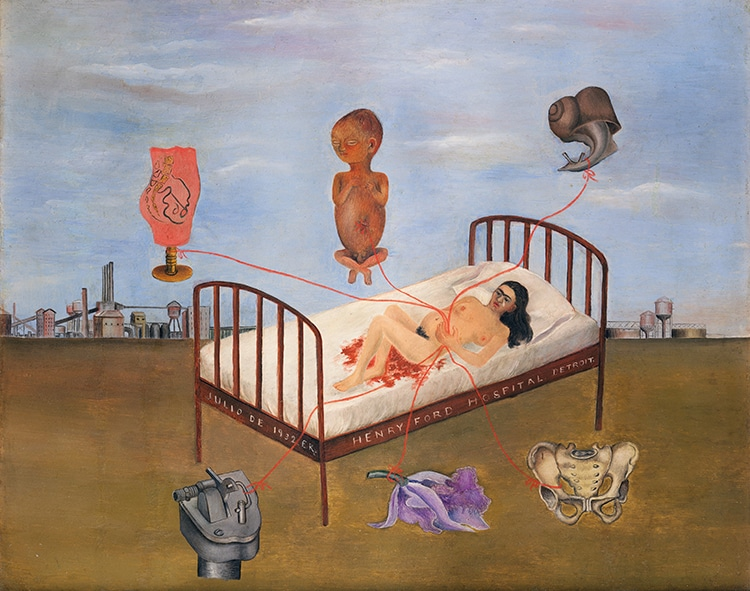 Book of paintings by Frida Kahlo by Taschen henry Ford hospital