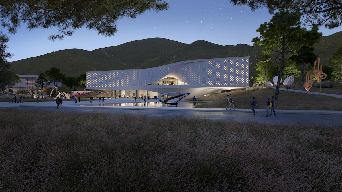 Exterior View of Chungnam Art Museum by UNStudio and DA Group