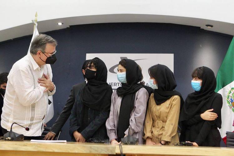 Arrivée des Afghan Dreamers à Mexico