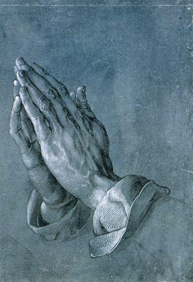 Drawing of Hands by Albrecht Durer