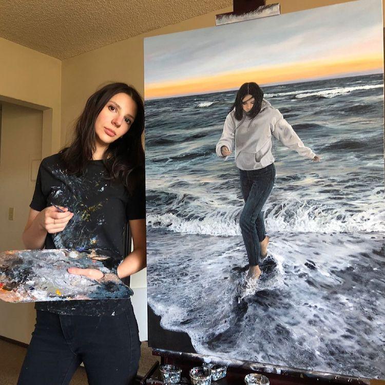 Acylic Ocean Paintings by Andreea Berindei