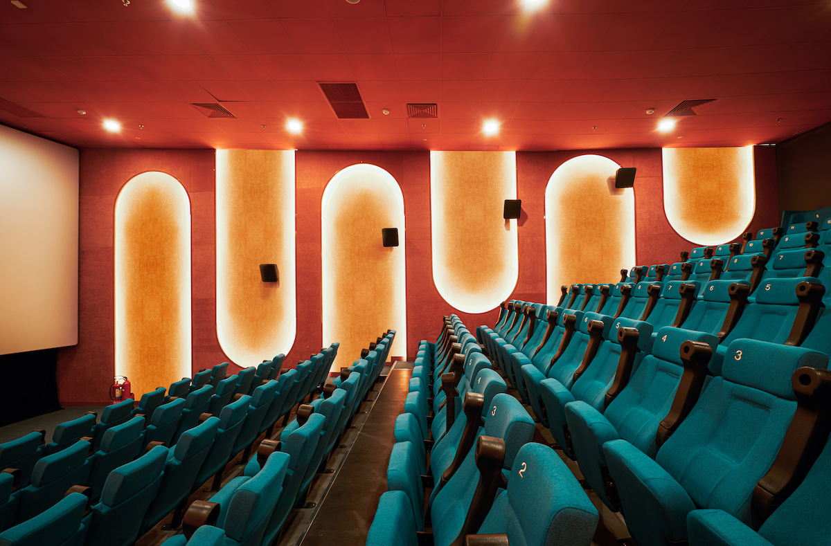 One Theater in the Colorful Beta Cinema by Module K