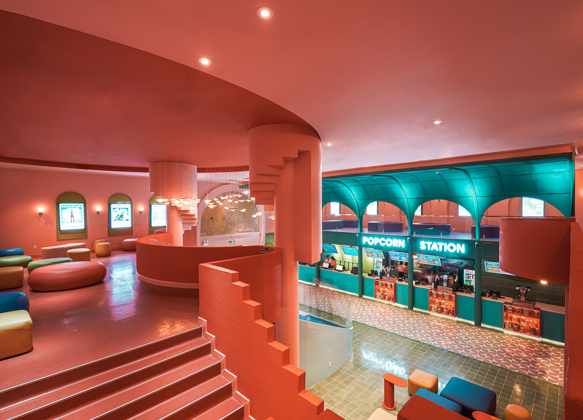 Upper Floor of Beta Cinema by Module K