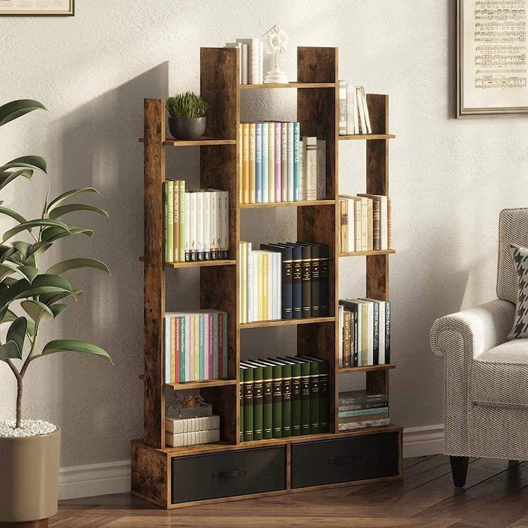 Industrial Style Open Bookshelf