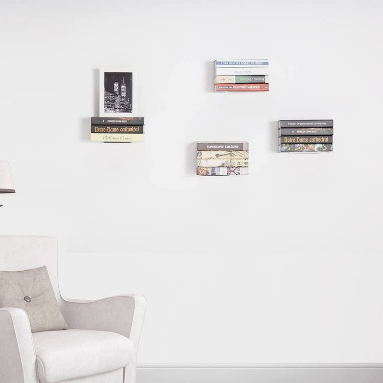 Invisible Floating Bookshelves