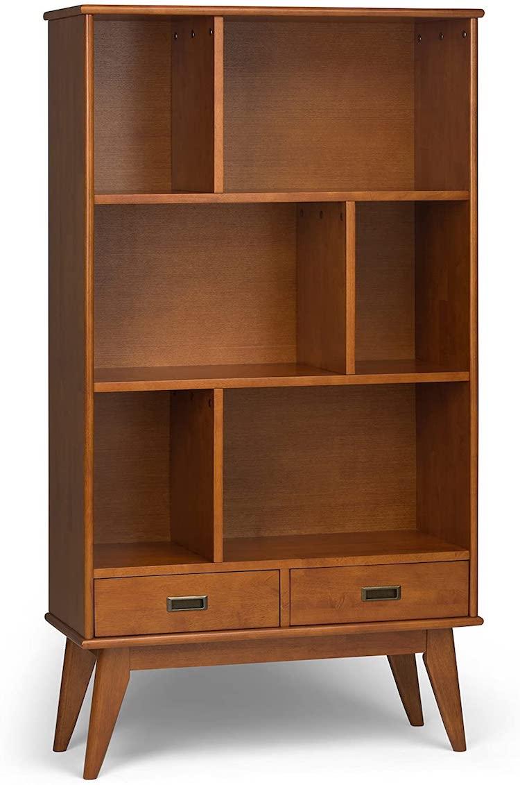 Mid-Century Modern Teak Brown Bookcase