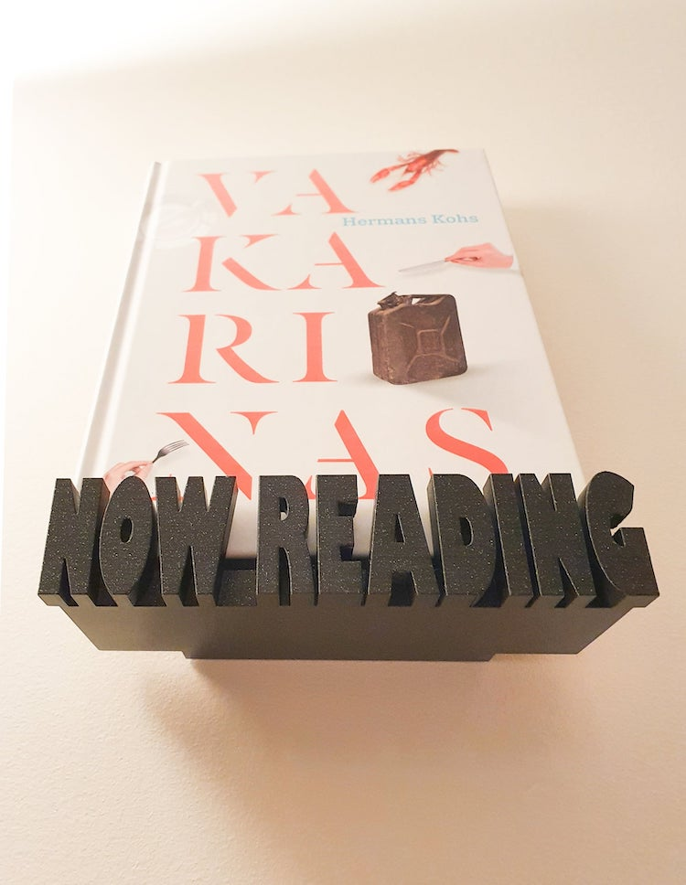 'Now Reading' Floating Book Shelf Display
