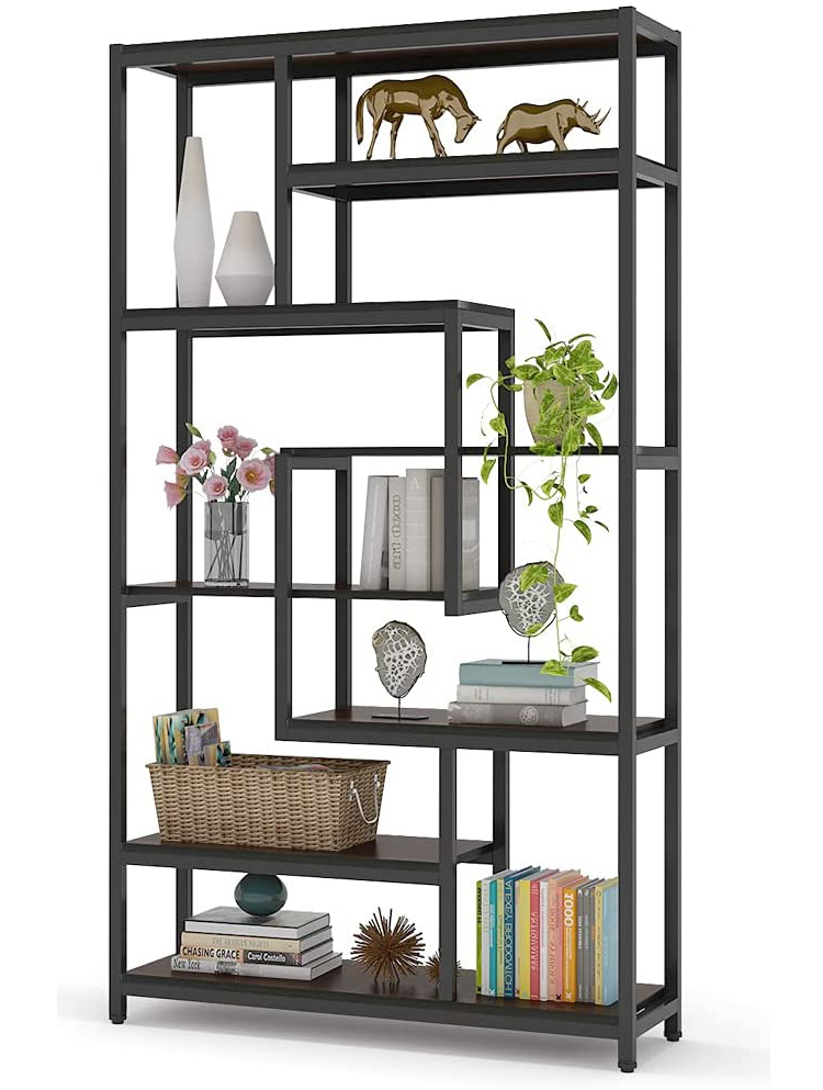 Staggered Cubic Shelving Bookshelf (Multiple Colors Available)