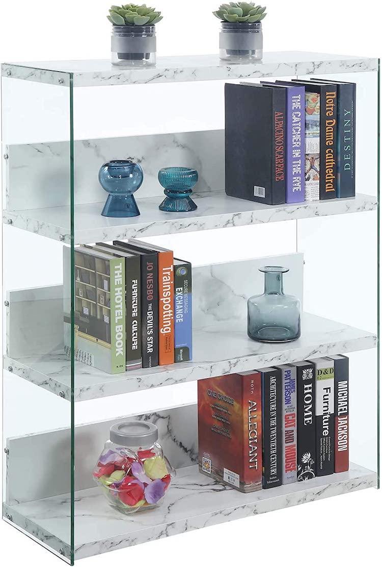 Faux Marble Short Bookcase