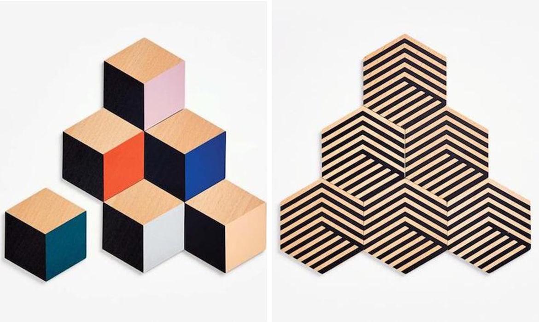 Portavasos modulares de ilusión óptica de Bower Studios