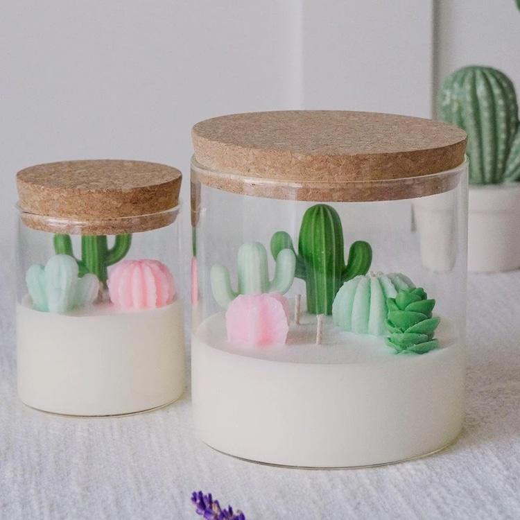 Cacti and Succulent Terrarium Candle