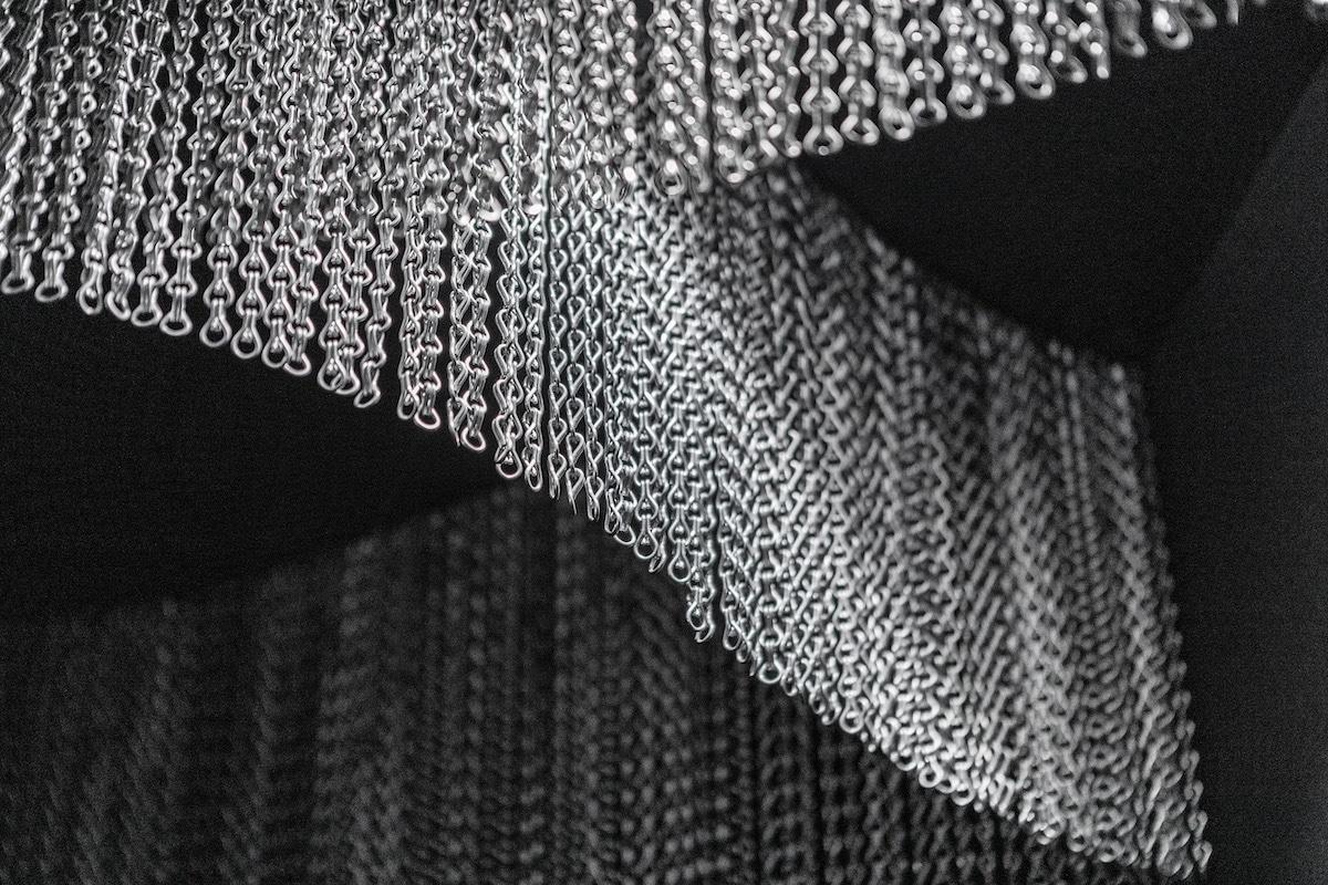 Detail of Kengo Kuma Aluminum Chain Staircase in Gaudí's Casa Batlló, Captured by Jordi Anguera