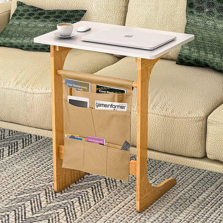 Mesa auxiliar para laptop para espacios pequeños
