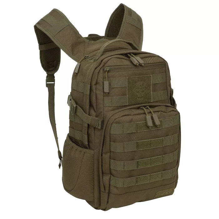 Olive Green Military Style Backpack
