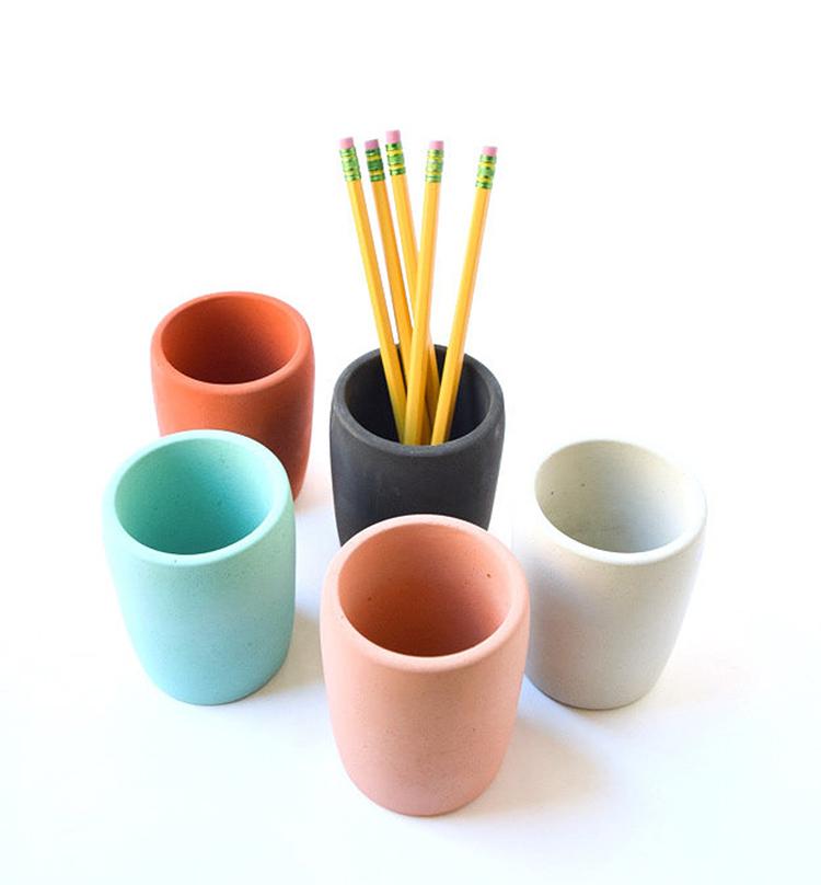 Concrete Pencil holder cup