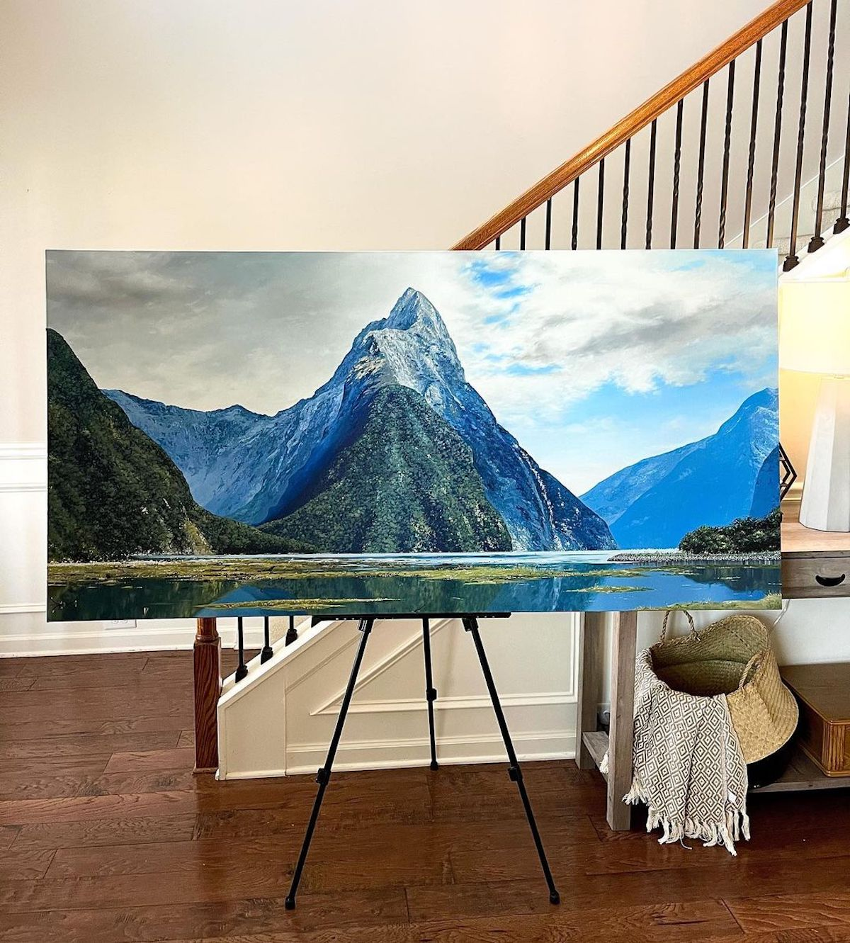 Oil Painting of New Zealand by Courtney Myers