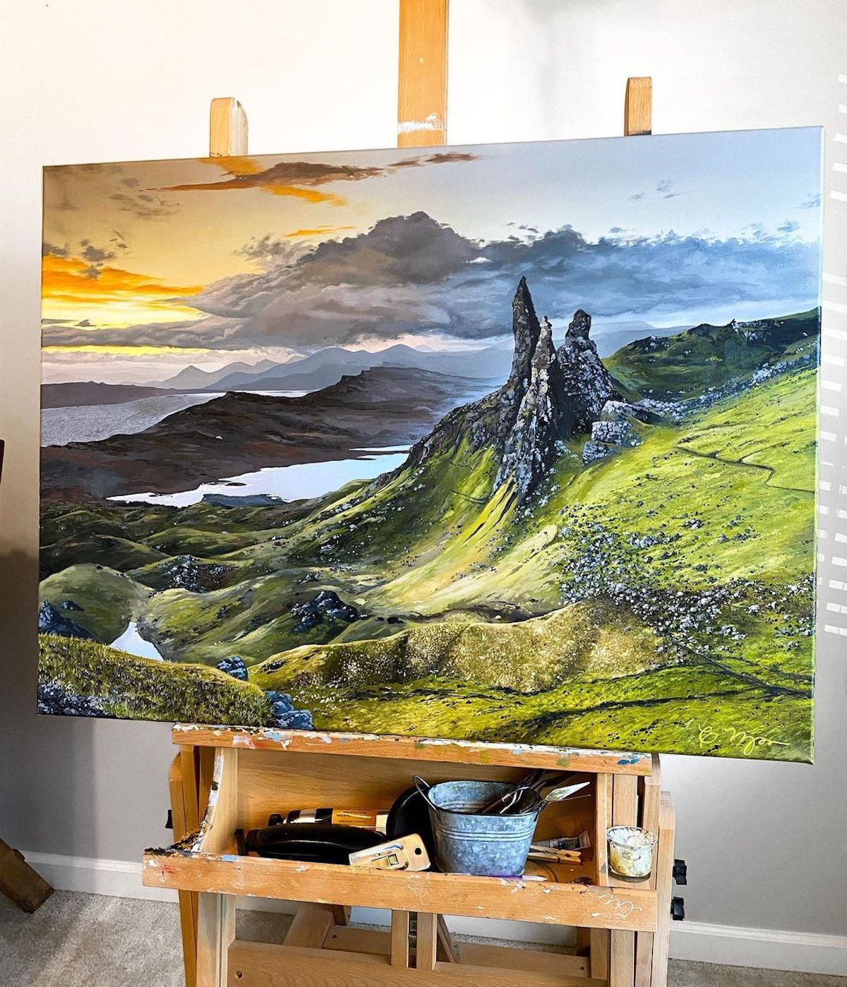 Oil Painting of Scotland by Courtney Myers