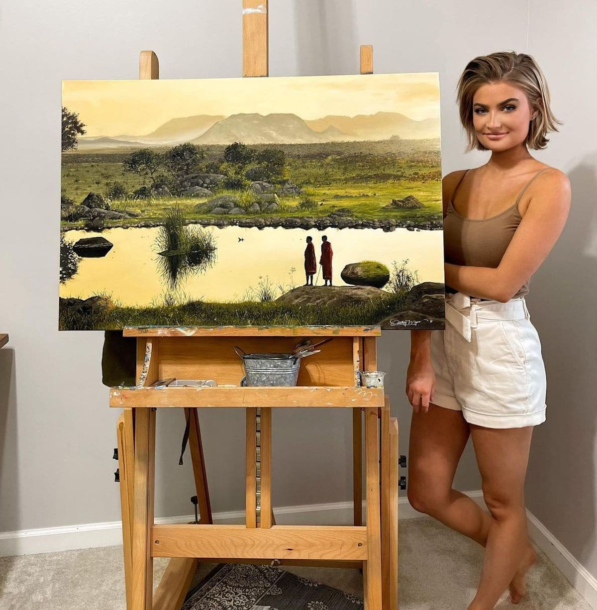 Oil Landscape Painting of Tanzania by Courtney Myers