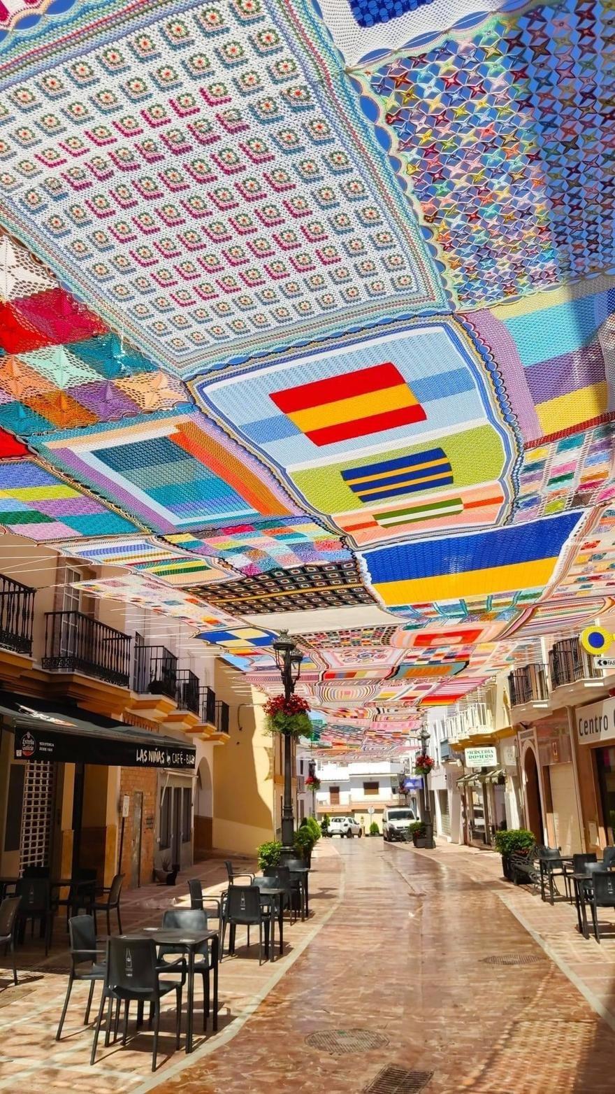 Dosel de ganchillo en Málaga, España